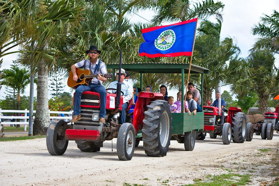 Tractor, Country Boy, Playing Guitar, Trailer, Belize