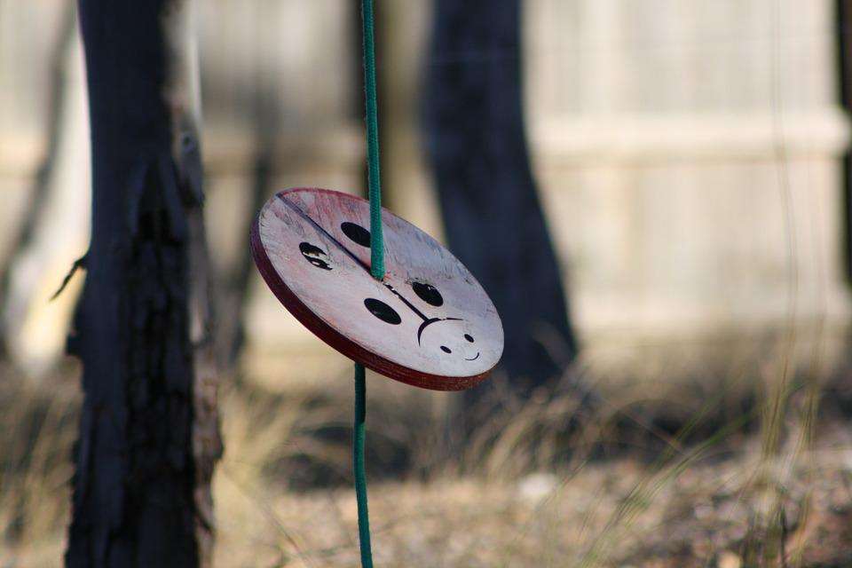 Swing, Playing Yard, Equipment, Game, Ladybird, Ladybug