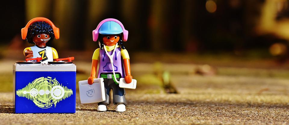 Disc Jockey, Put Plates, Playmobil, Figures, Funny