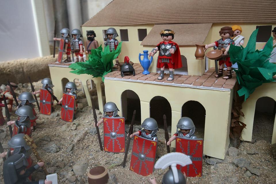 Pilatus, Jesus, Playmobil, Interrogation, Passion