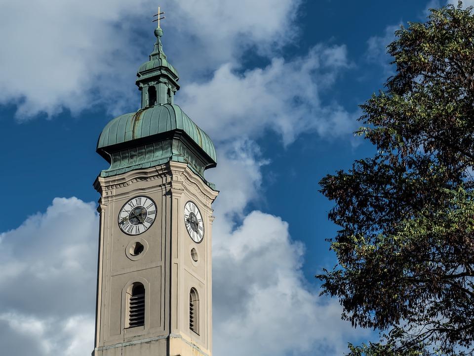 Tower, Plaza, Munich, Eclipse Tower, Culture, Clouds