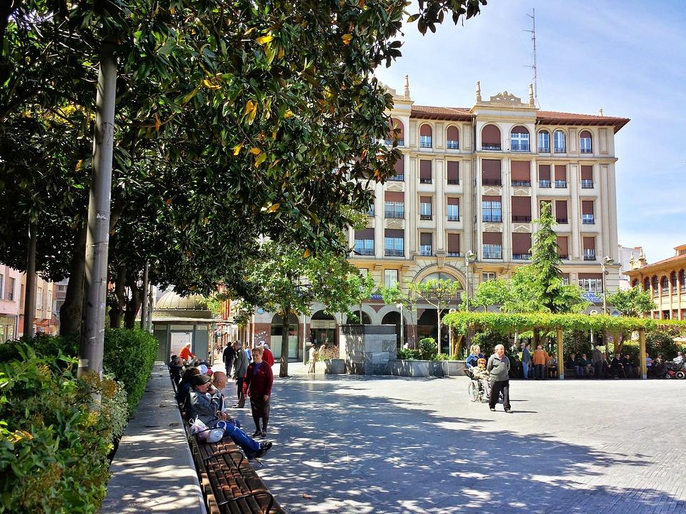Barakaldo, Vizcaya, Euskadi, Plaza, Market Square