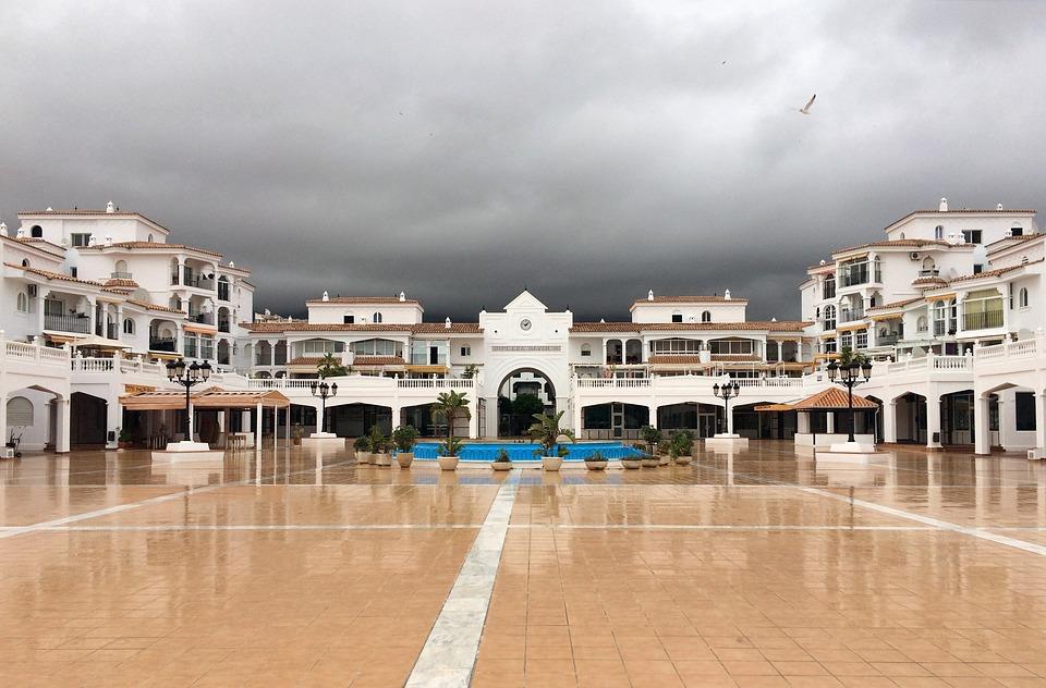 Plaza Mayor After The Storm, Thunder, Spanish Plaza