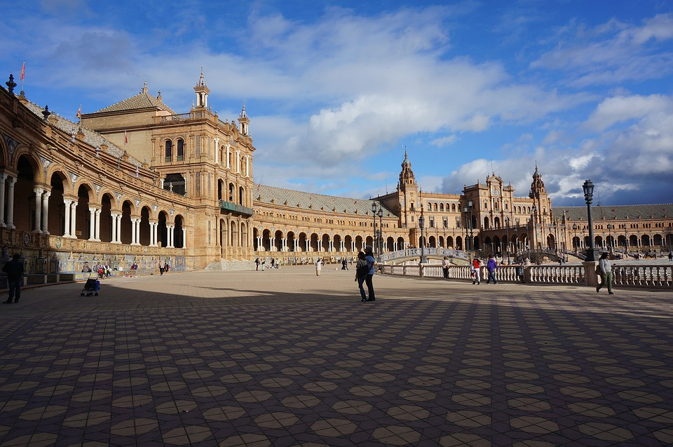 Sevillian, Plaza Of Spain, Gothic Architecture