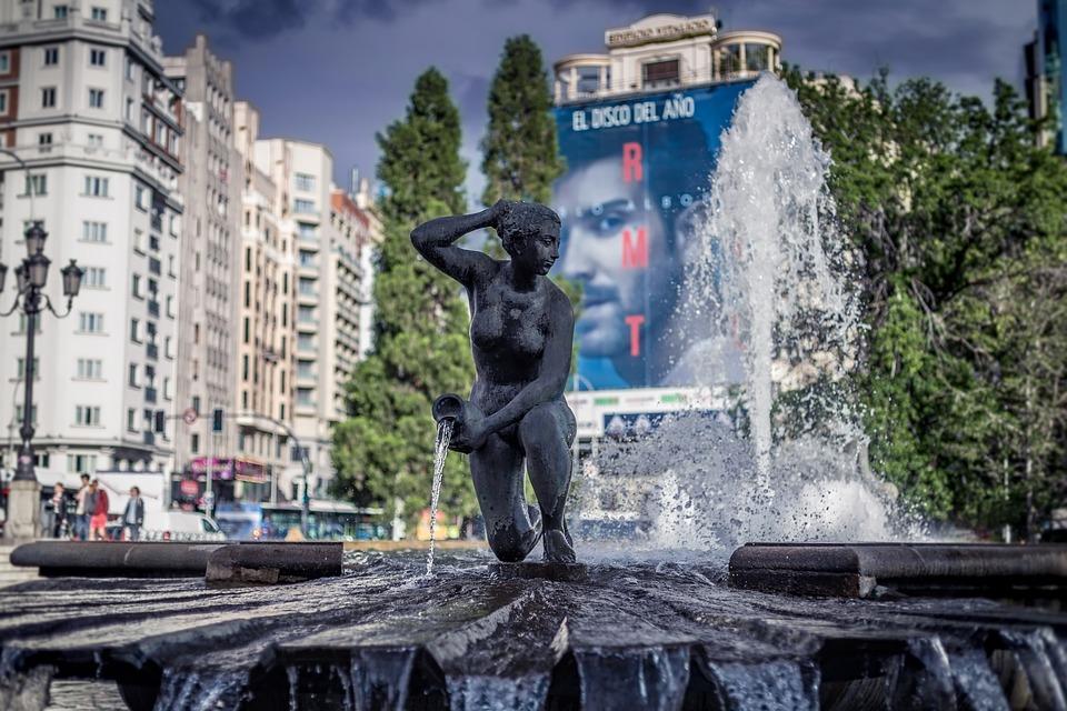 Plaza De Espana, Fountain, Espana, Plaza, Spain