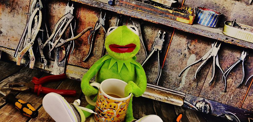Kermit, Workshop, Coffee Break, Pliers, Frog