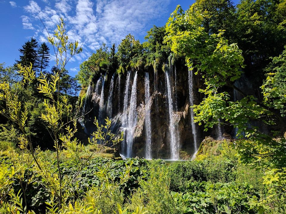 Croatia, National Park, Waterfall, Lake, Plitvice Lakes