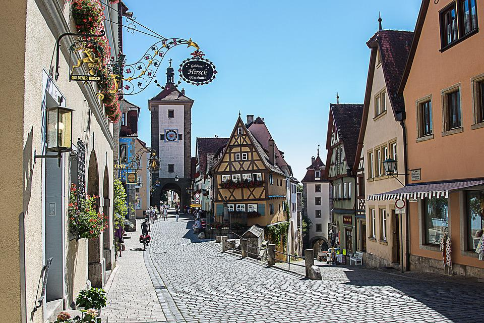 Rothenburg Of The Deaf, Plönlein, Truss, City Gate