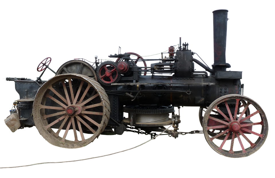 Steam Plow, Plough, Steam Engine, Agricultural Machine