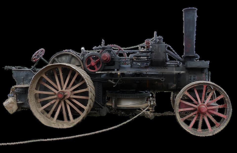 Steam Plow, Plough, Steam Engine, Agricultural Machine