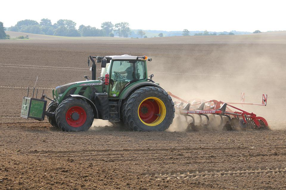 Tractor, Agriculture, Plow, Field, Nature, Dry, Drought
