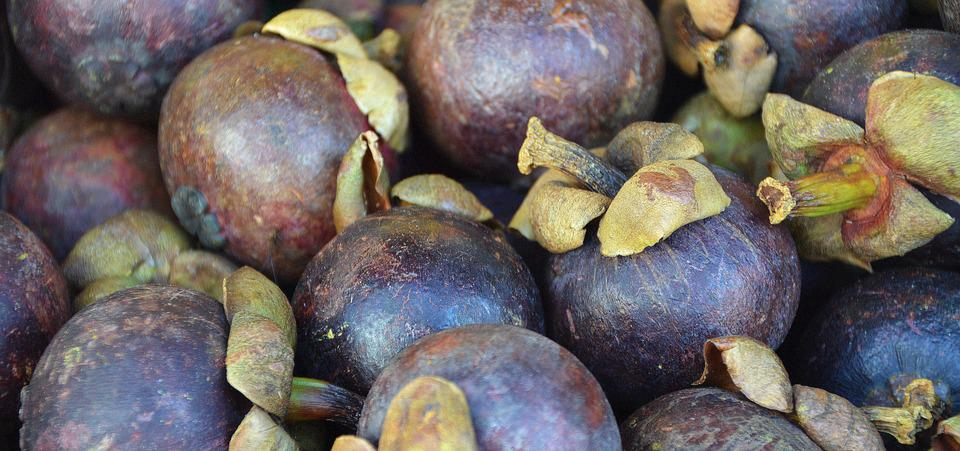 Mangosteen, Fruit, Plum, Market, Market Stall, Sunlight