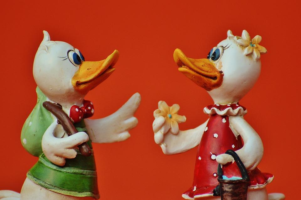 Ducks, Funny, Cute, Art Stone, Fig, Plumage, Bill