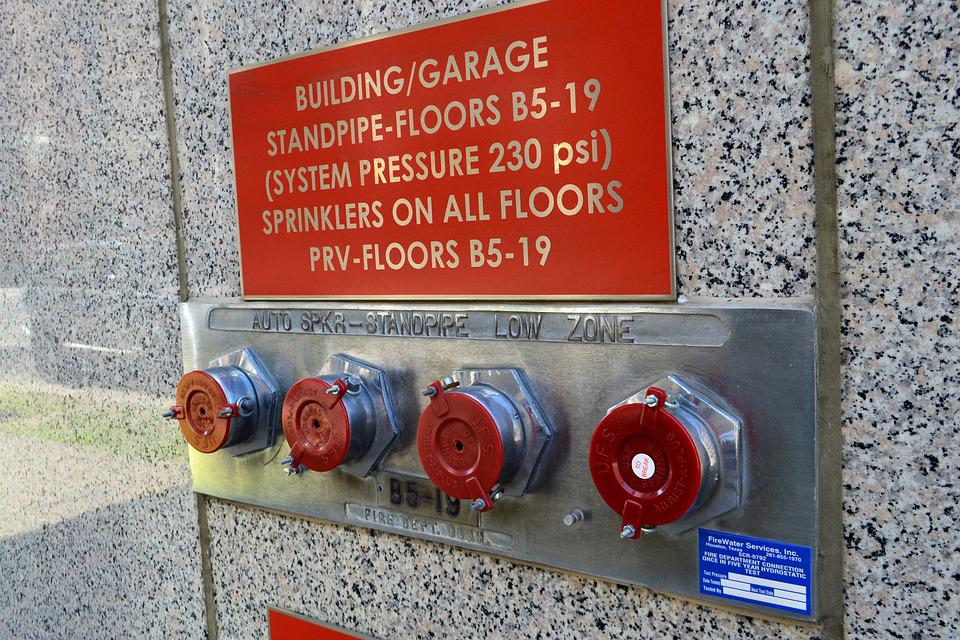 Fire Safety, Standpipe, Sprinkler, Valve, Plumbing