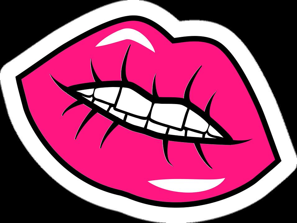 Lips, Pink, Plump, Smile, Girl, Female, Fashion, Mouth