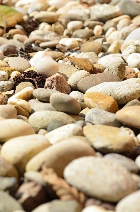 Stones, Pebbles, Round, Steinig, Plump, Nature