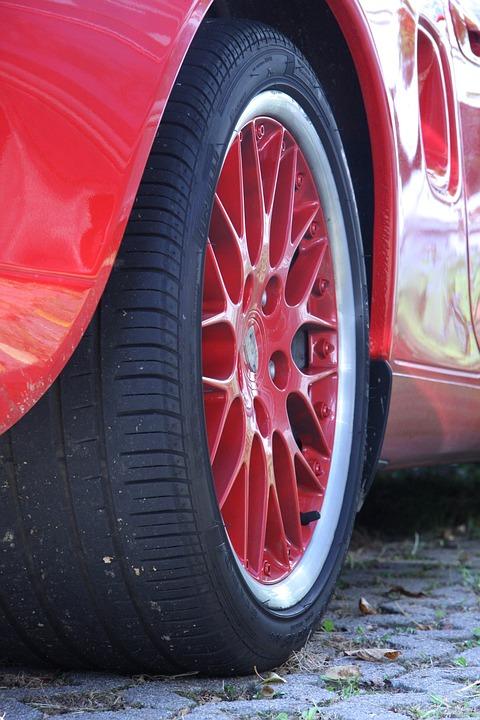 Wheels, Mature, Wheel, Porsche, Pneu, Sports Car, Red