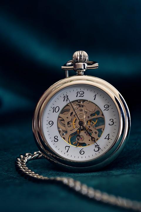 Pocket Watch, Clock, Time, Movement, Old, Pointer