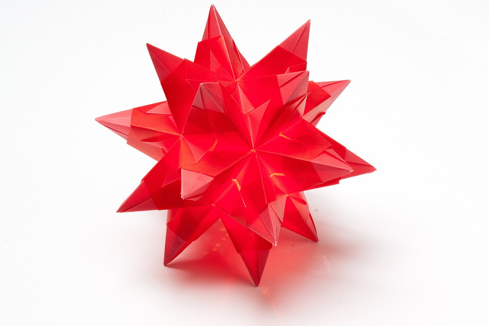 free photo poinsettia origami fold art of paper folding max pixel