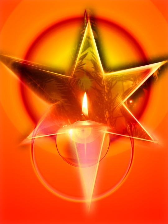Advent, Star, Christmas, Poinsettia, Atmosphere