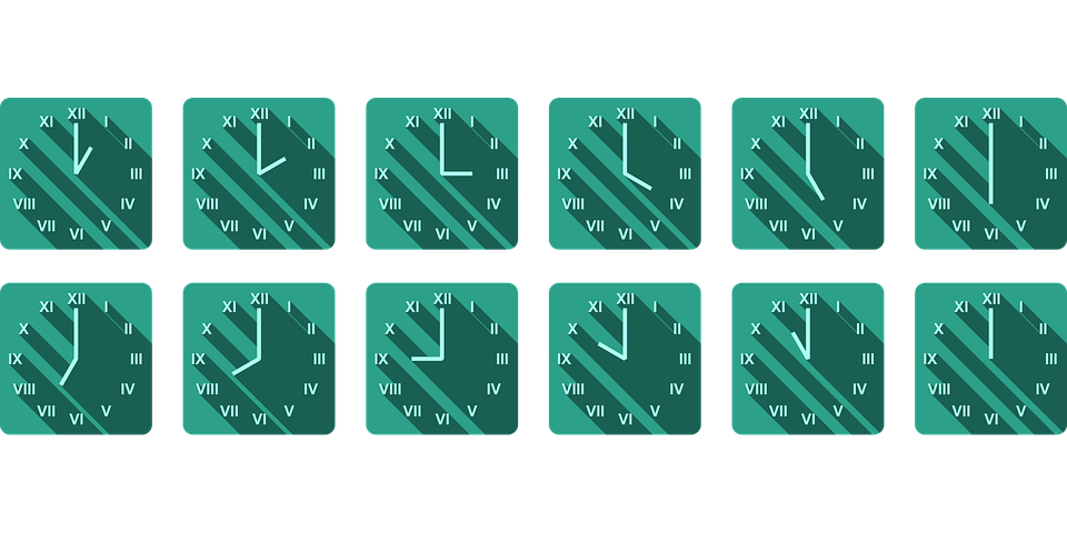 Clock, Time, Icons, Shadows, Hours, Minutes, Pointer