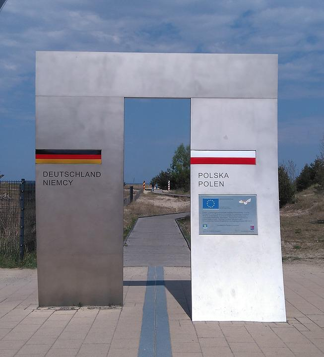 Border, Federal Republic Of Germany, Poland, Monument
