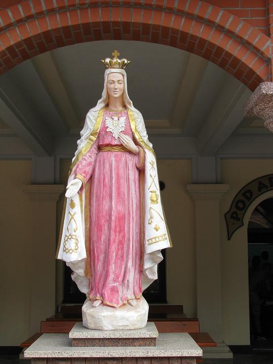 Mary, Lichen, Poland, The Sanctuary, Figure