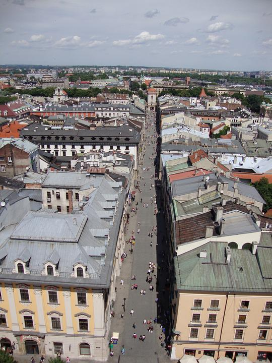 Kraków, Poland, Florian Street, Monument, Architecture