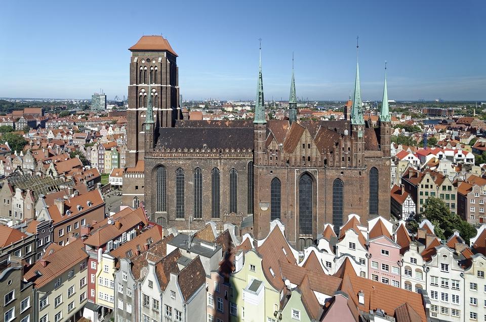 Poland, Gdańsk, Old Town, St Mary's Church