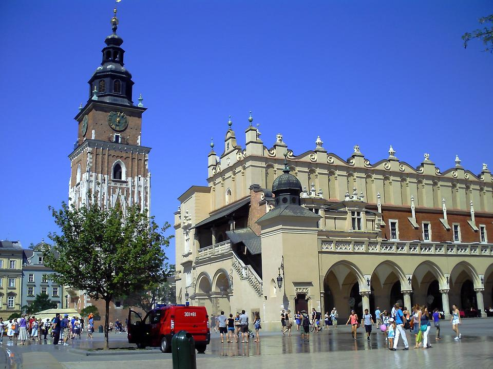 Poland, Kraków, The Old Town, The Market, Monument