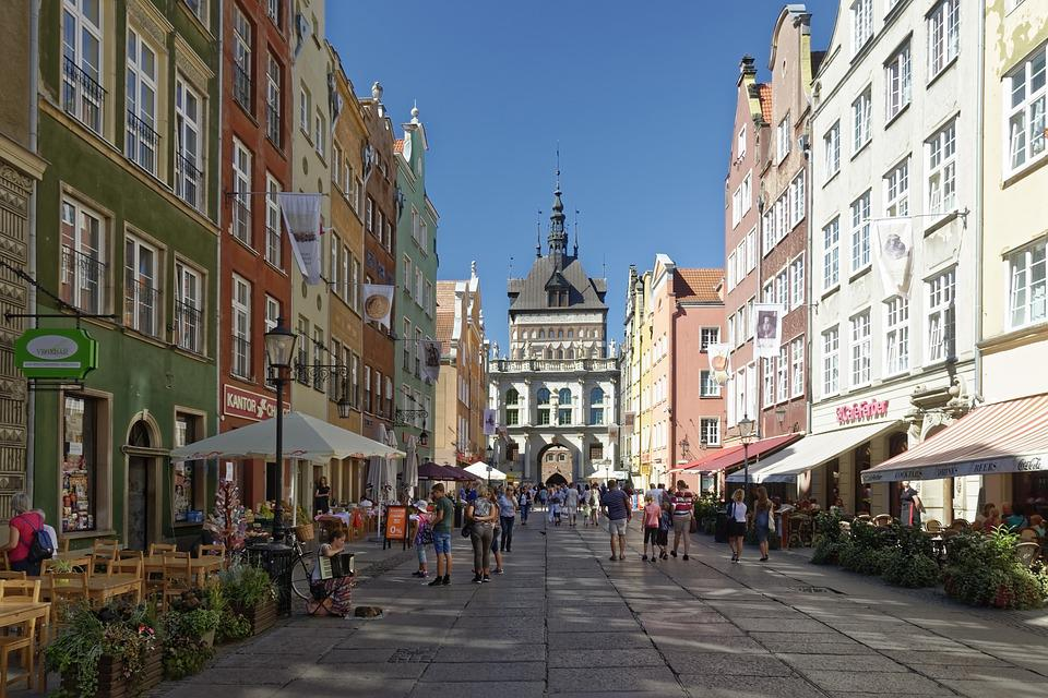 Poland, Gdańsk, Historic Center, Long Market