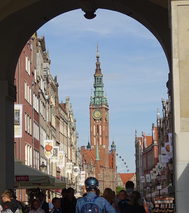 Poland, Gdansk, Long Street, Old Town Hall