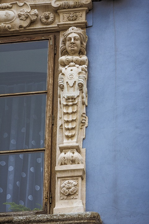 Window, Sculpture, Lublin, The Old Town, Poland