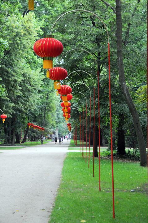 Warsovie, Park, Garden, Chinese, Poland