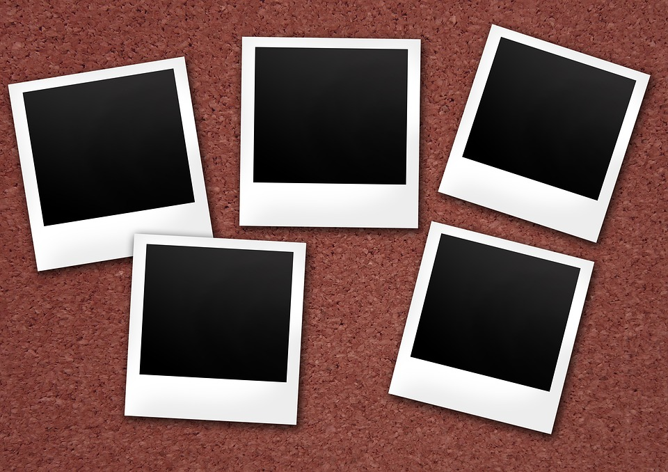 Polaroid, Cork Wall, Photos, Retro, Vintage