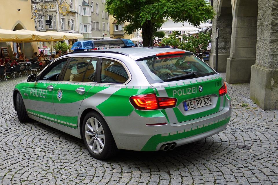 German, Police, Car, Bmw, Polizei, Street, Security