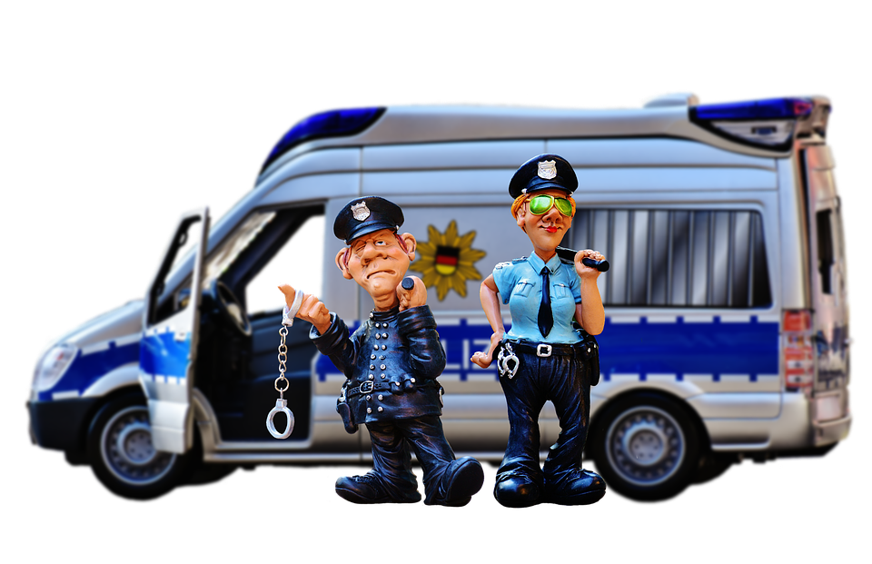 Free photo Police Officers Police Check Police Model Car Funny ...