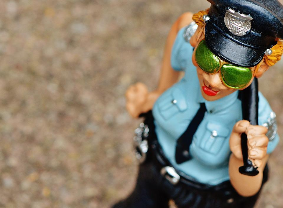Policewoman, Funny, Fig, Police