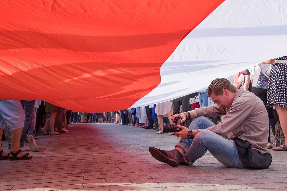 Poland, Flag, Polish, Photographer, Demonstration