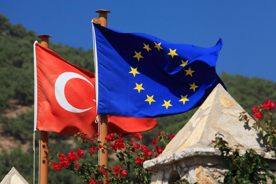 Blue, Country, Europe, European, Union, Flag, Political