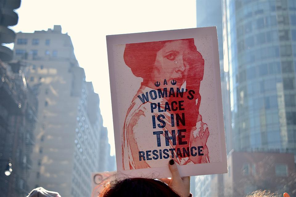 Women's March, Political, Rally, Human, Rights, Women