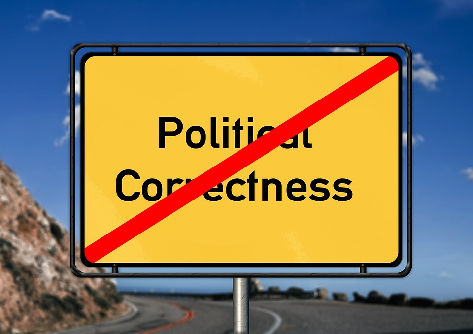 Politically, Correctly, Road Sign, Traffic Sign, Shield