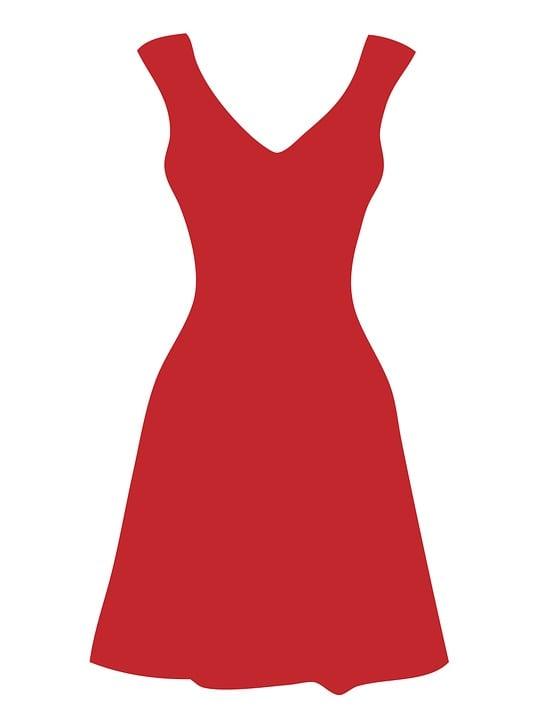 Dress, Red, White, Polka Dots, Dots, Spots, Fashion