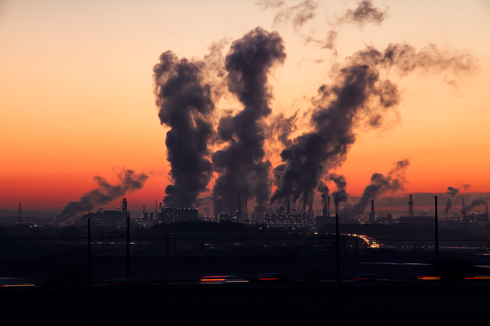 Industry, Sunrise, Air, Pollution