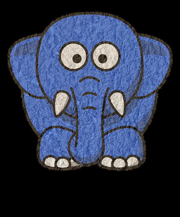Elephant, Animal, Cartoon Elephants, Poly