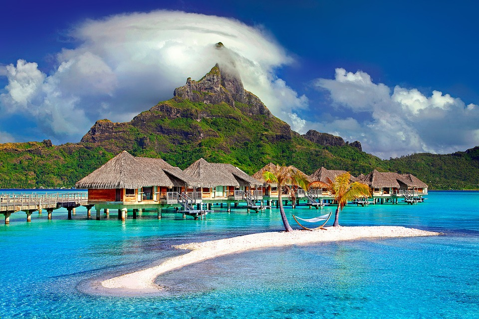 free photo polynesia bora bora island paradise tahiti travel max pixel. Black Bedroom Furniture Sets. Home Design Ideas