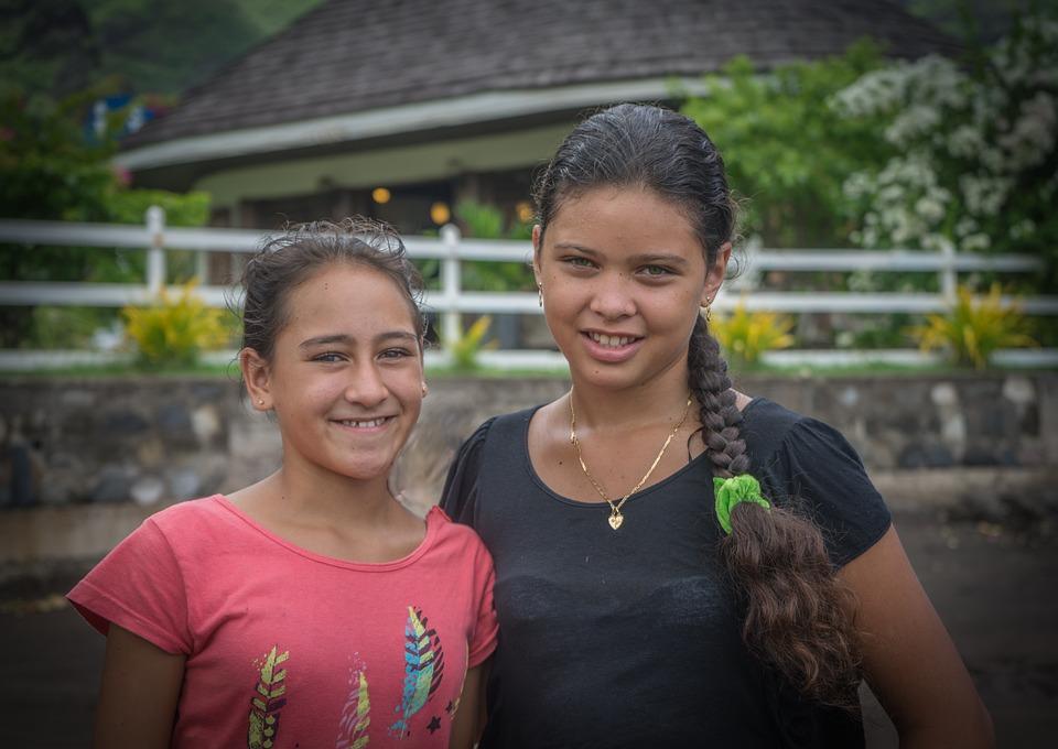 Female, Girls, Portrait, Polynesian, French Polynesia