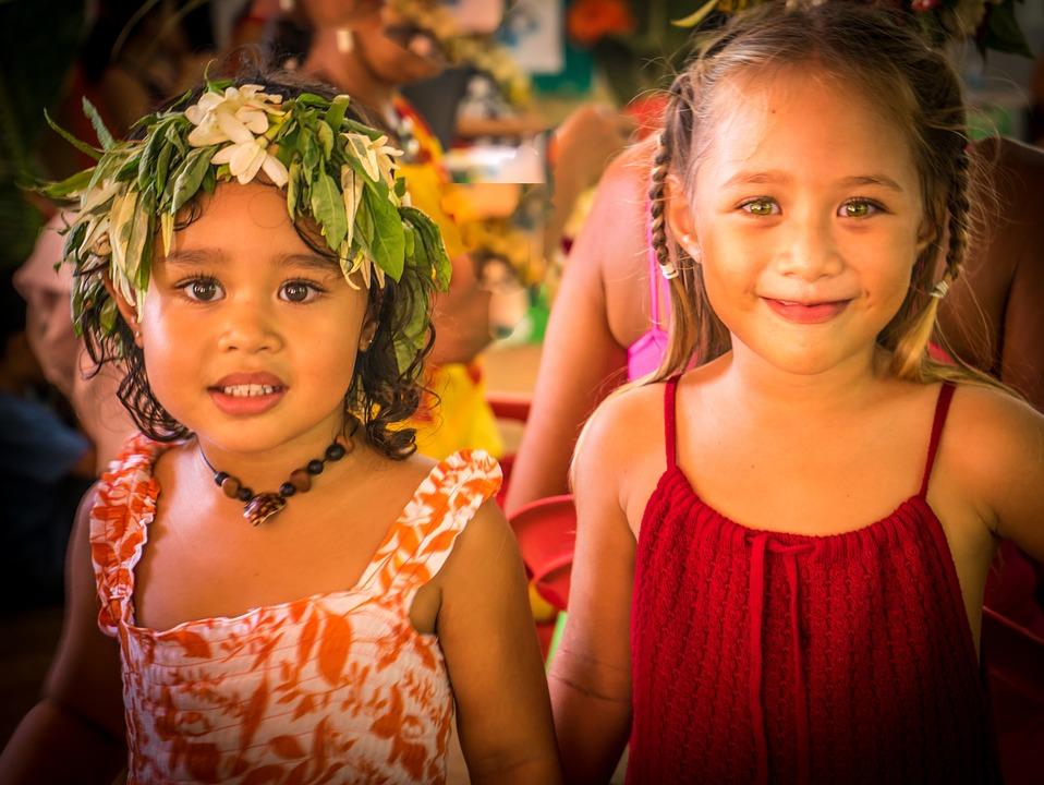 Polynesian Girls, Portrait, Female, Young, Woman