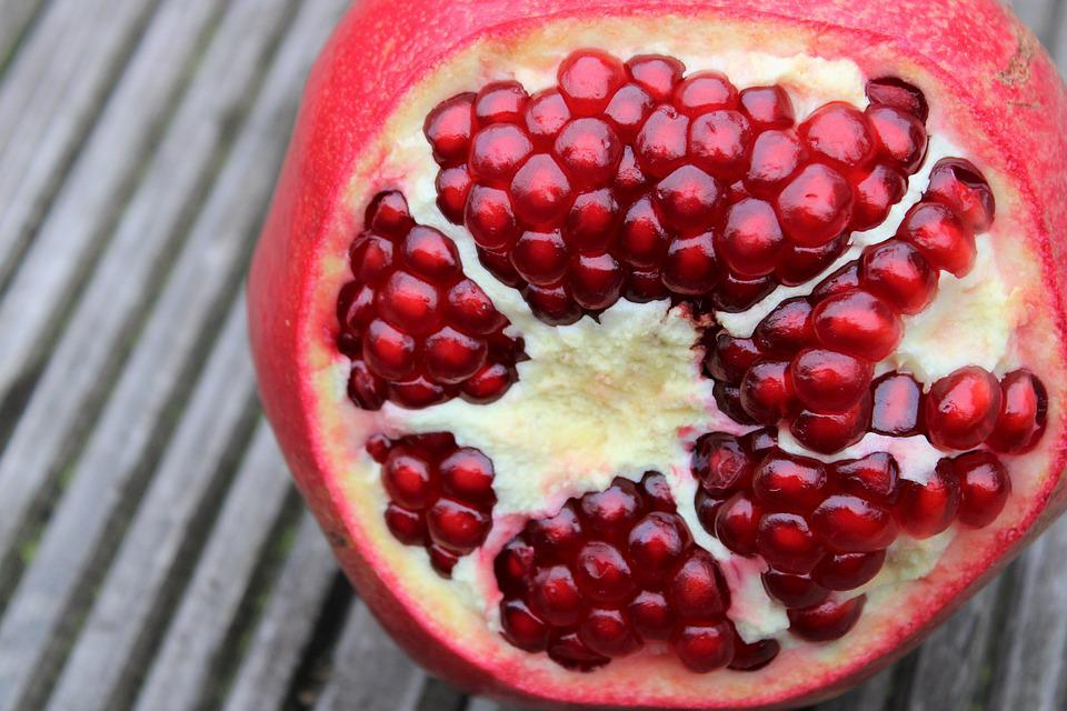 Pomegranate, Exotic Fruits, Fruits, Cut, Sliced, Open