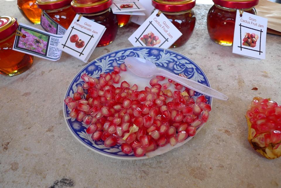 Malta, Gozo, Pomegranate, Fruit, Food, Vitamins, Exotic